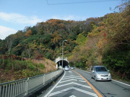 新磐船トンネル・磐船街道・国道168号線・紅葉